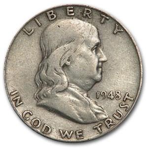 1948-D Franklin Half Dollar Fine/XF