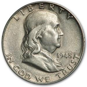 1948-D Franklin Half Dollar XF