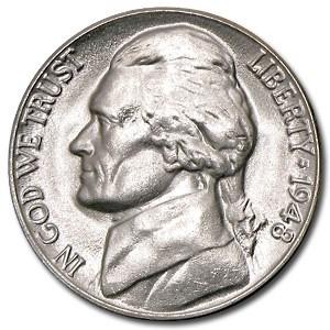 1948-D Jefferson Nickel BU
