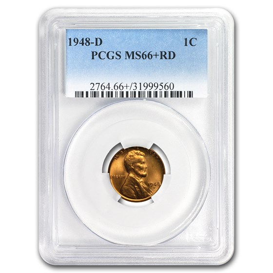 1948-D Lincoln Cent MS-66+ PCGS (Red)