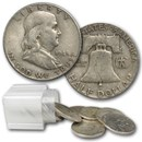 1948 Franklin Half Dollar 20-Coin Roll Avg Circ