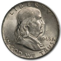 1948 Franklin Half Dollar AU