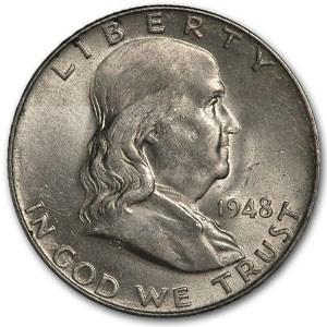 1948 Franklin Half Dollar AU