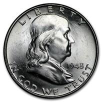 1948 Franklin Half Dollar BU