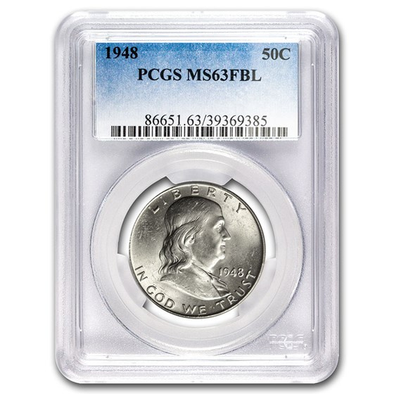 1948 Franklin Half Dollar MS-63 PCGS (FBL)