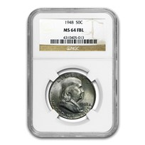 1948 Franklin Half Dollar MS-64 NGC (FBL)