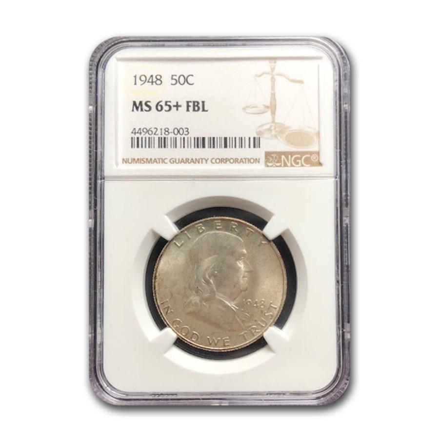 1948 Franklin Half Dollar MS-65+ NGC (FBL)