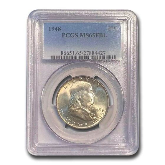 1948 Franklin Half Dollar MS-65 PCGS (FBL)