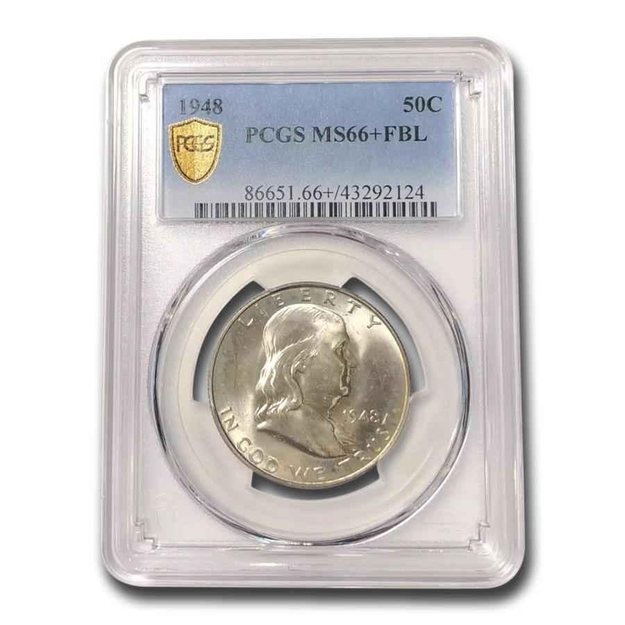 1948 Franklin Half Dollar MS-66+ PCGS (FBL)