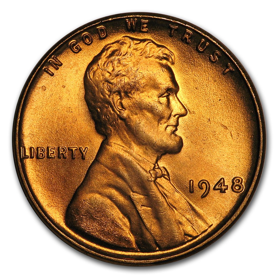 1948 Lincoln Cent BU (Red)