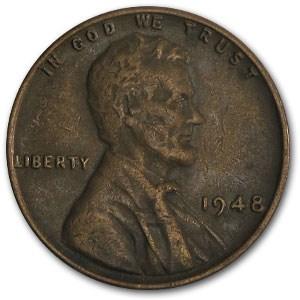 1948 Lincoln Cent Fine+
