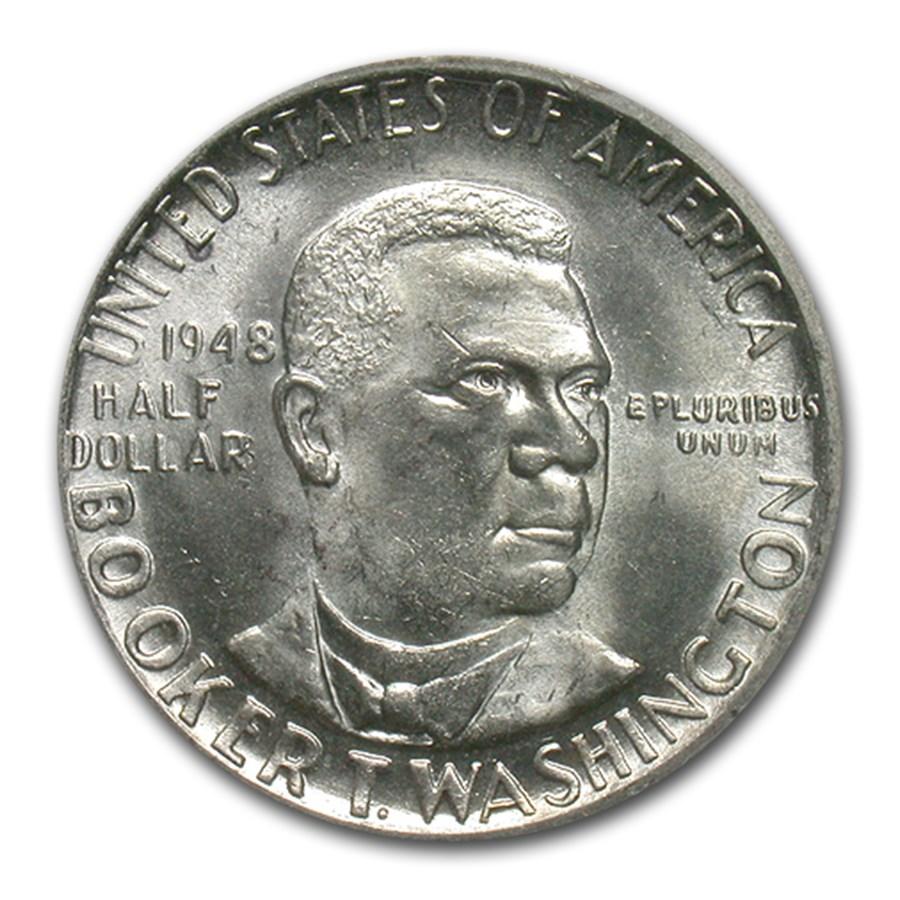 1948-S Booker T. Washington Half Dollar MS-66 PCGS