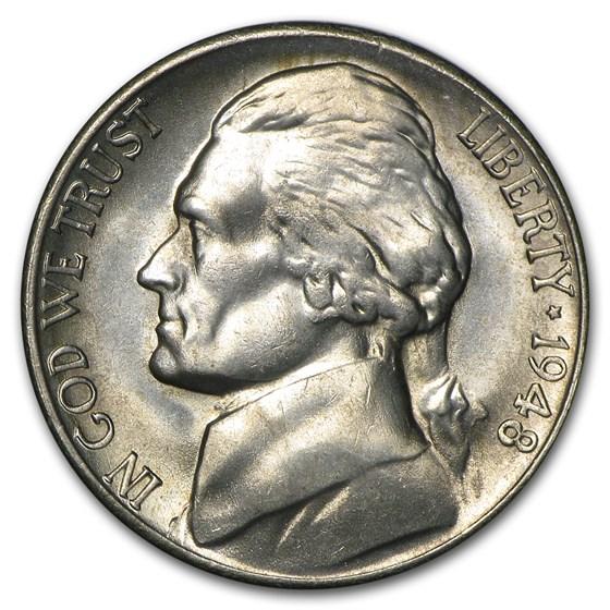 1948-S Jefferson Nickel BU