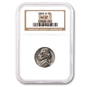 1948-S Jefferson Nickel MS-67 NGC (Finest Known)