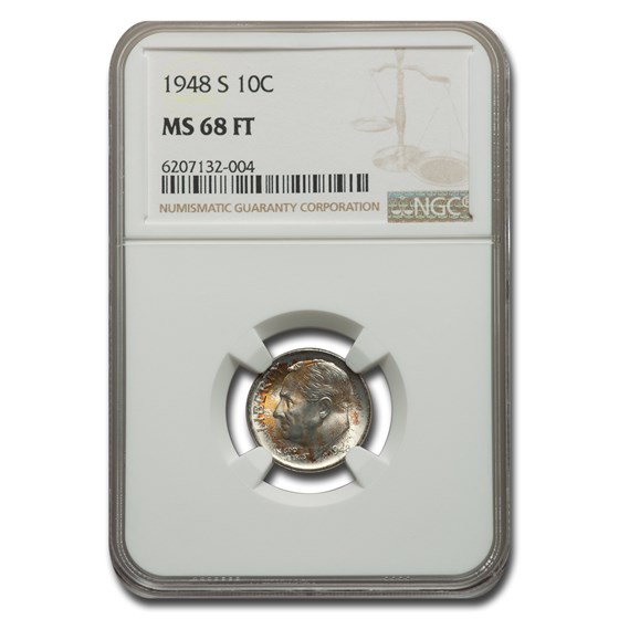 1948-S Roosevelt Dime MS-68 NGC