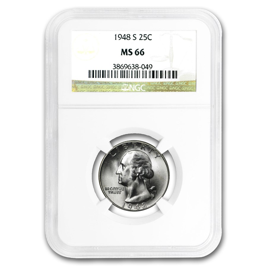 1948-S Washington Quarter MS-66 NGC