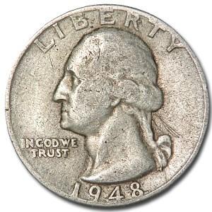 1948 Washington Quarter Good/XF
