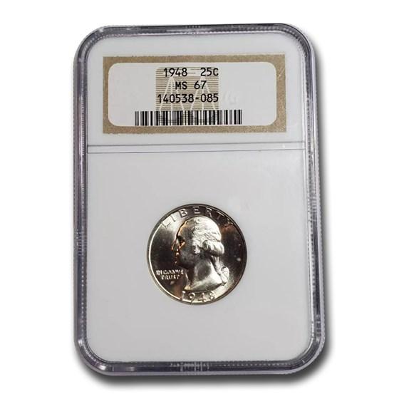 1948 Washington Quarter MS-67 NGC
