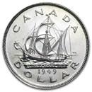 1949 Canada Silver Dollar George VI AU