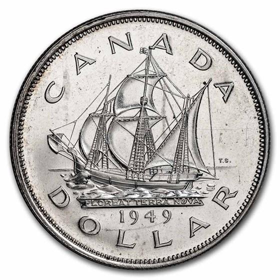 1949 Canada Silver Dollar George VI BU