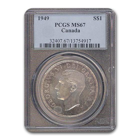 1949 Canada Silver Dollar MS-67 PCGS