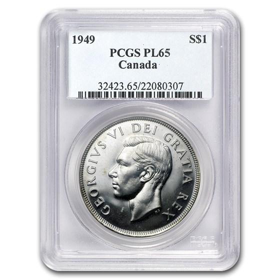 1949 Canada Silver Dollar PL-65 PCGS