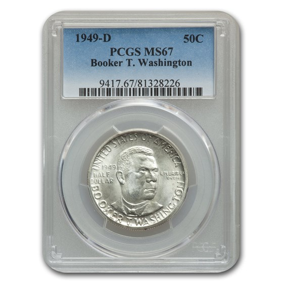 1949-D Booker T. Washington Half Commem MS-67 PCGS