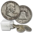 1949-D Franklin Half Dollar 20-Coin Roll Avg Circ