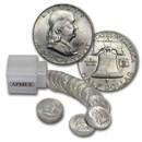 1949-D Franklin Half Dollar 20-Coin Roll BU