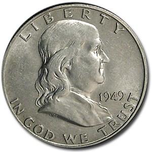 1949-D Franklin Half Dollar AU