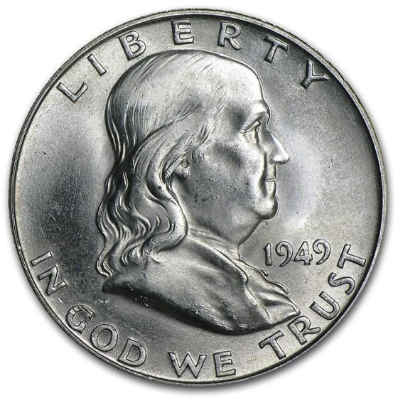 1949-D Franklin Half Dollar BU