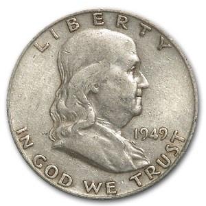 1949-D Franklin Half Dollar Fine/XF