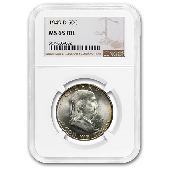 1949-D Franklin Half Dollar MS-65 NGC (FBL)