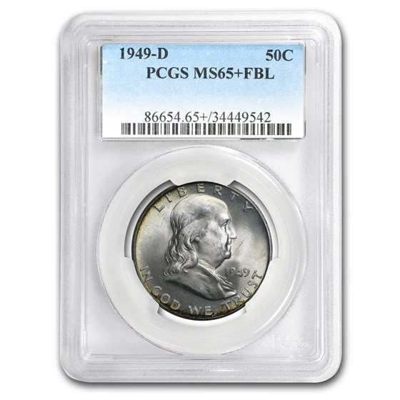 1949-D Franklin Half Dollar MS-65+ PCGS (FBL)