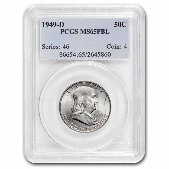 1949-D Franklin Half Dollar MS-65 PCGS (FBL)