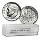 1949-D Roosevelt Dime 50-Coin Roll BU