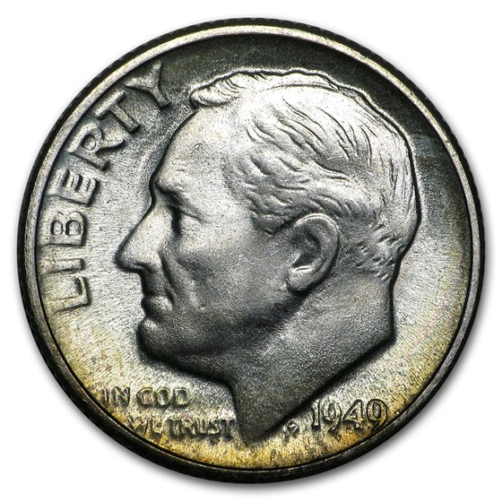 1949-D Roosevelt Dime BU
