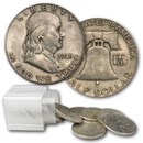 1949 Franklin Half Dollar 20-Coin Roll Avg Circ