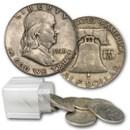 1949 Franklin Half Dollar 20-Coin Roll Avg Circ