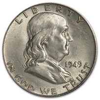 1949 Franklin Half Dollar AU