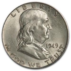 1949 Franklin Half Dollar AU