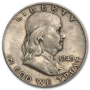 1949 Franklin Half Dollar Fine/XF