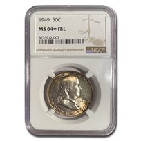 1949 Franklin Half Dollar MS-64+ NGC (FBL)