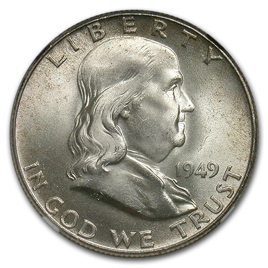 1949 Franklin Half Dollar MS-65+ NGC (FBL)