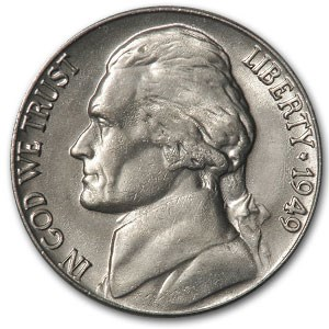 1949 Jefferson Nickel BU
