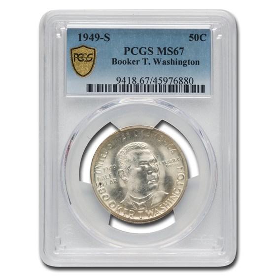 1949-S Booker T. Washington Commemorative Half Dollar MS-67 PCGS