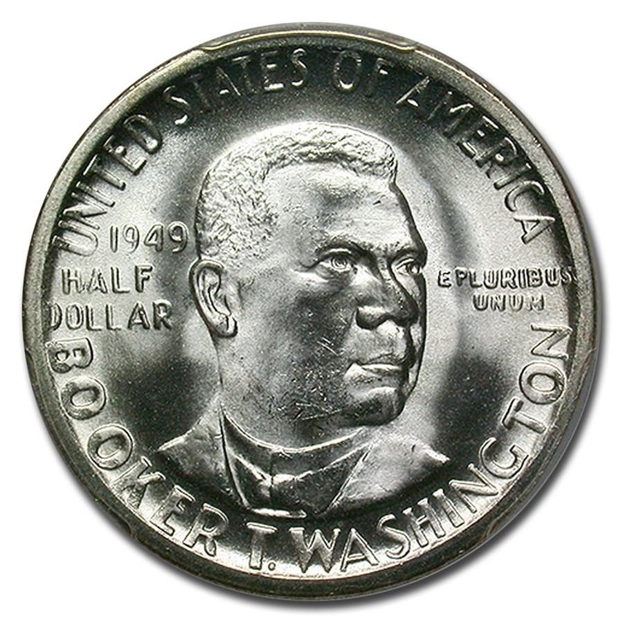 1949-S Booker T. Washington Half Dollar MS-66 PCGS