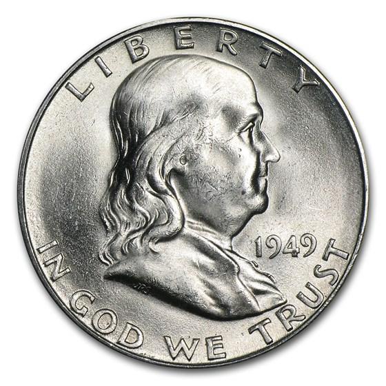 1949-S Franklin Half Dollar BU