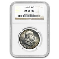 1949-S Franklin Half Dollar MS-65 NGC (FBL)