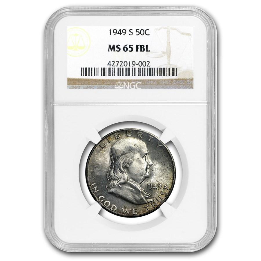 1949-S Franklin Half Dollar MS-65 NGC (FBL)